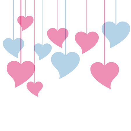 vector hearts: Vector hearts background