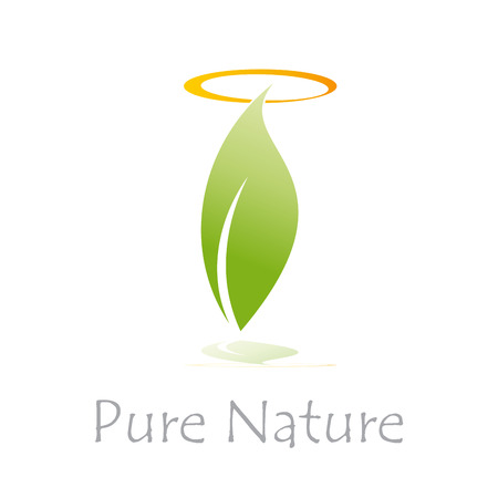 pure: Vector sign Pure Nature