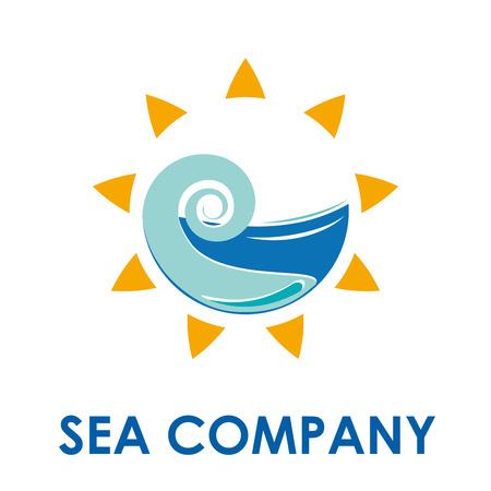 agencia de viajes: Vector de la muestra del sol y el mar