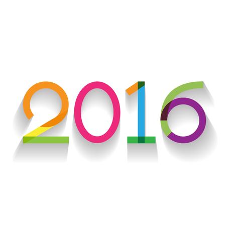 calendario: 2016 texto creativo en dise�o plano