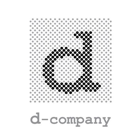 screening: Vector sign letter D, screening Illustration