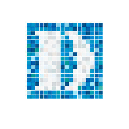 water logo: Vector sign letter D, pool Illustration