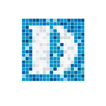 water alphabet: Vector sign letter D, pool Illustration