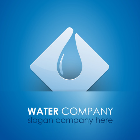 containment: Vector sign safeguarding water