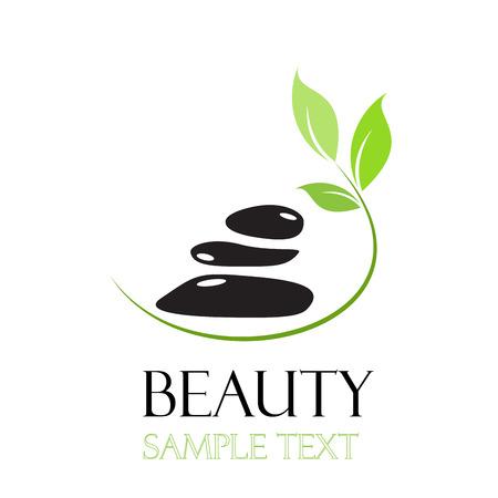solarium: Vector sign  spa. Beauty farm