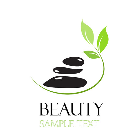 massage symbol: Vector sign  spa. Beauty farm