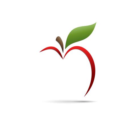 Segno vettoriale astratto mela