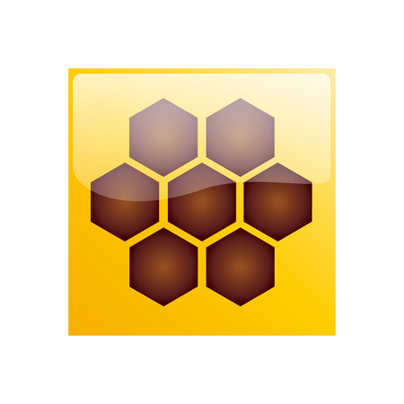 hive: Vector sign hive  honey