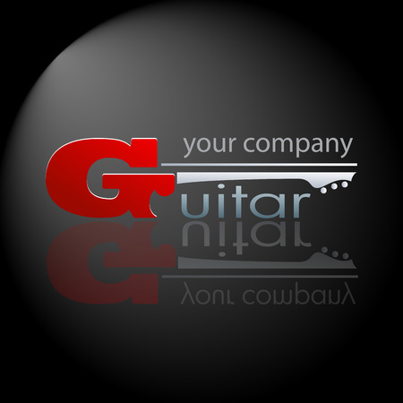 conductors: Vector sign Music Store . The Guitar Illustration