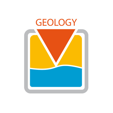 Vector sign geologist. Search of water