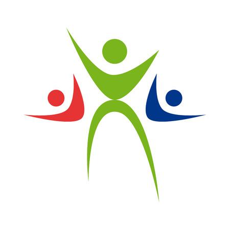 solidaridad: Vector Regístrate Familia feliz. La solidaridad de la niñez Vectores
