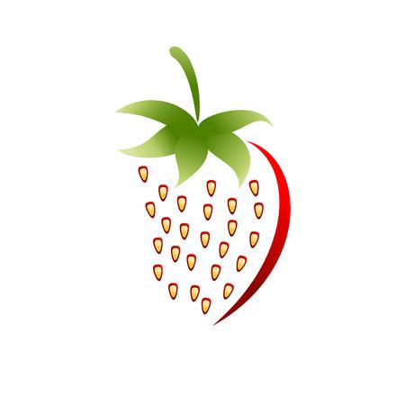 Vector sign strawberry Illustration