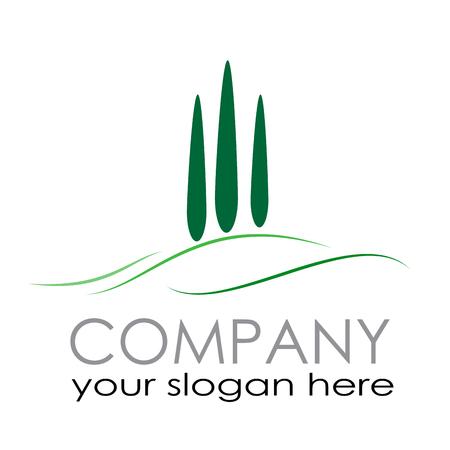 logotipo turismo: Vector de la muestra agrícola. turismo rural