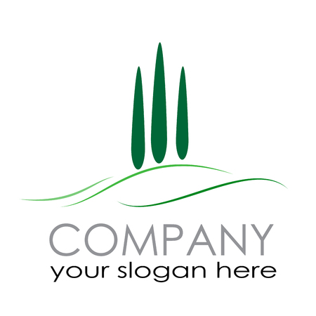 Vector sign Farm. Countryside tourism Illustration