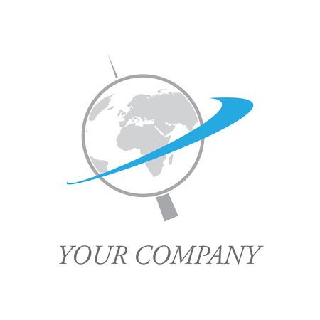 tour operator: Vector sign rotating globe