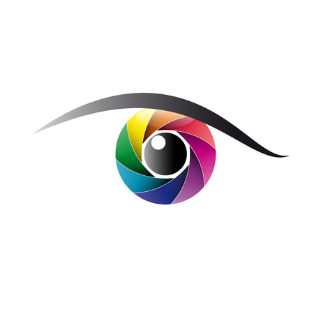 Vector sign rainbow eye, iris