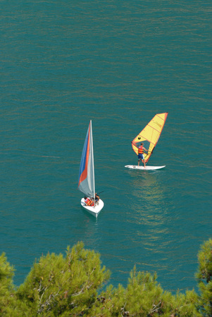 italian sea: windsurf on italian sea