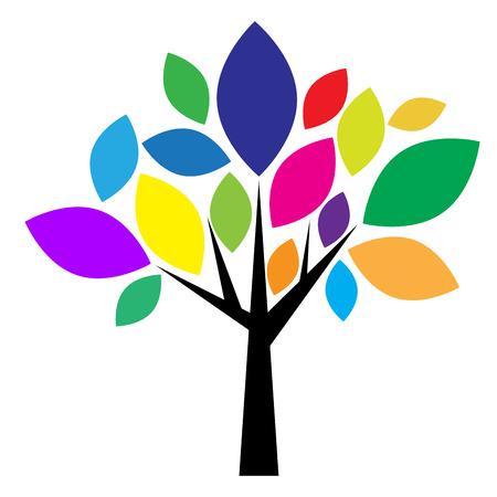 Vector de la muestra del árbol colorido