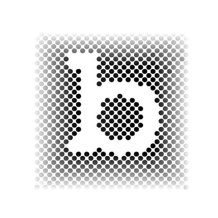 simplified: Vector sign letter B, screening Illustration