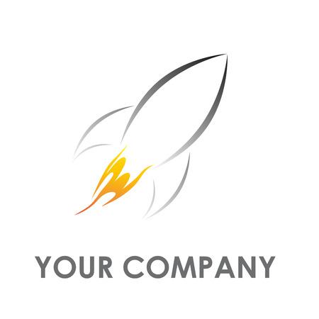 travel burner: Vector sign stylized rocket