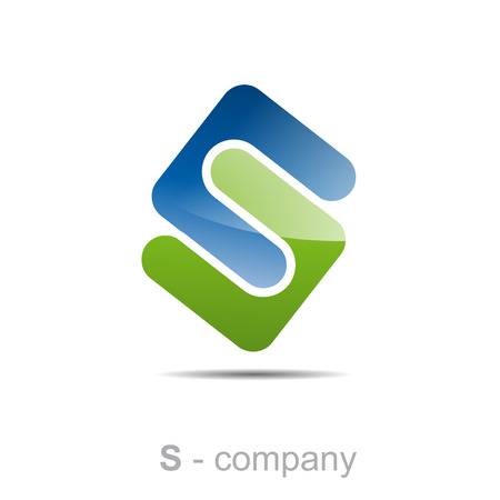 vector letter teken S, milieu