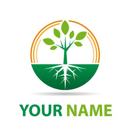 albero da frutto: Segno vettoriale agricoltura biologica, Fruttivendolo