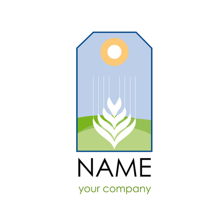 famine: Vector label sign wheat
