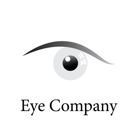 simplified: Vector sign simplified eye