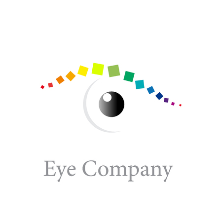 digital eye: Vector sign digital eye