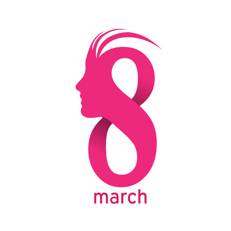 8 march: Vector sign 8 march, womens day