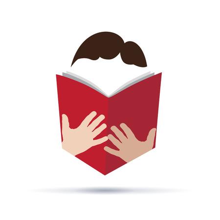 manos logo: Vector firmar libro de resúmenes