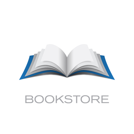 book publisher: Vector sign bookstore