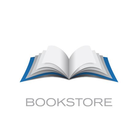 guide book: Vector sign bookstore