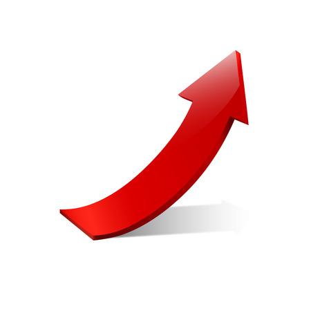 flechas: Vector de la muestra roja flecha hacia arriba