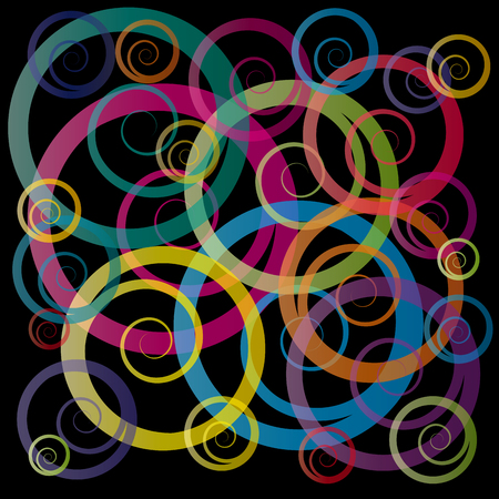 curly: Vector curly background