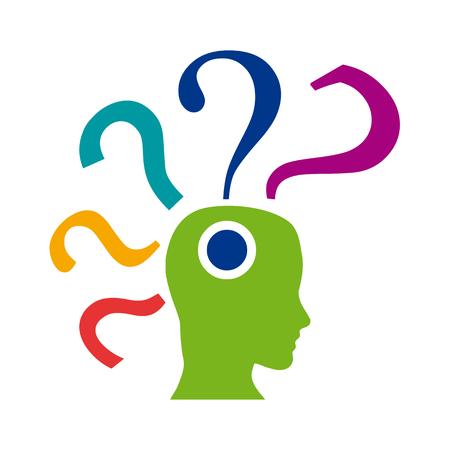 hip�tesis: Muestra del vector signo de interrogaci�n en la cabeza