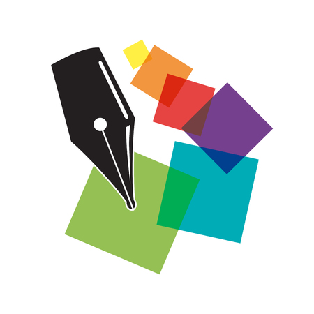 digital printing: Vector sign digital printing Illustration