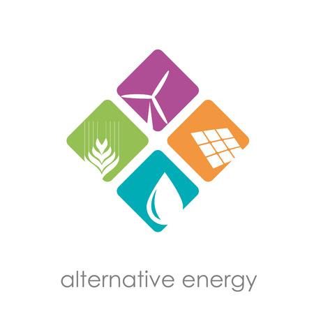 energías renovables: Vector Regístrate energías alternativas Vectores