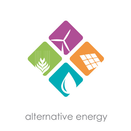 alternative energy: Vector sign alternative energy