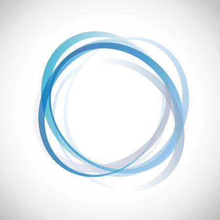 renewable energy: Vector Blue Rings Background