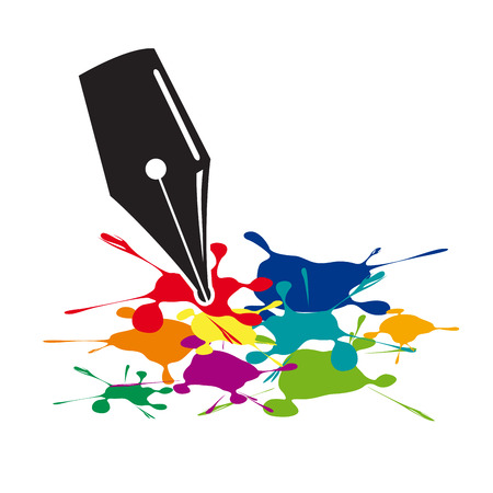 webmaster: Colored splashes in abstract shape