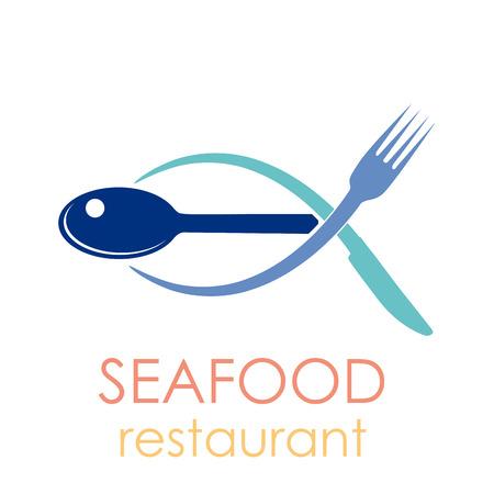 logo poisson: Vecteur signe Seafood Restaurant Illustration