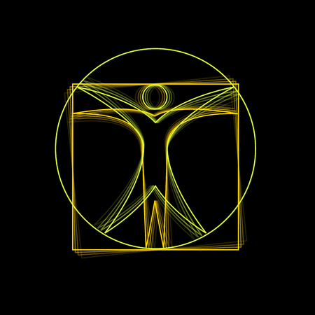 Vector teken Leonardo da Vinci