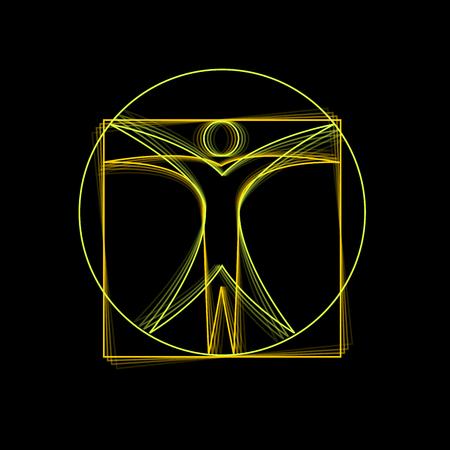 medizin logo: Vektor-Zeichen Leonardo da Vinci