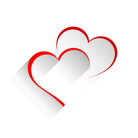 Vector sign two hearts Stock Vector - 50848433
