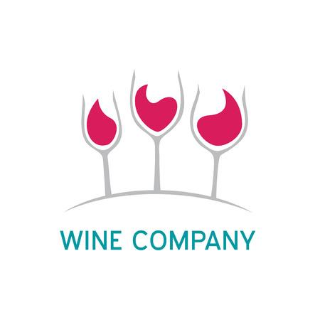 wine cellar: Vector sign Wine enterprise Illustration