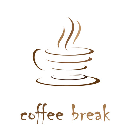 break: Vector sign coffee break