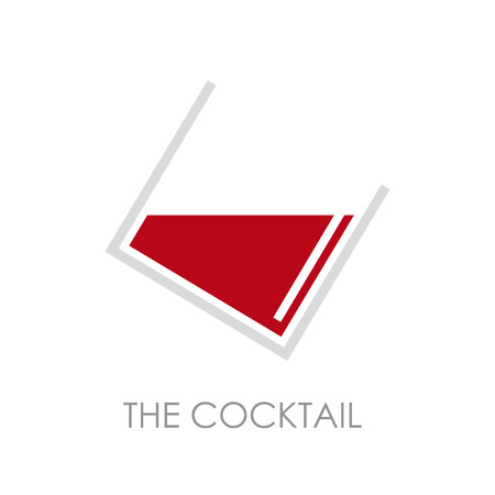 distillate: Vector sign abstract cocktail