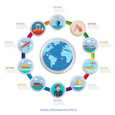archeology: Vector travel infographics Illustration