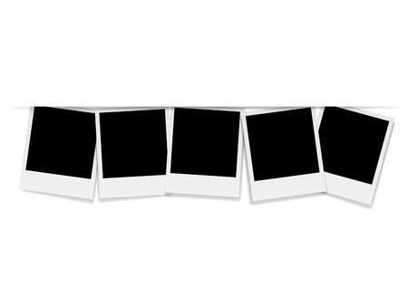 Vector blank photo frames Illustration